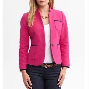 Banana Republic Pink Maui Rose Tweed Blazer Jacket